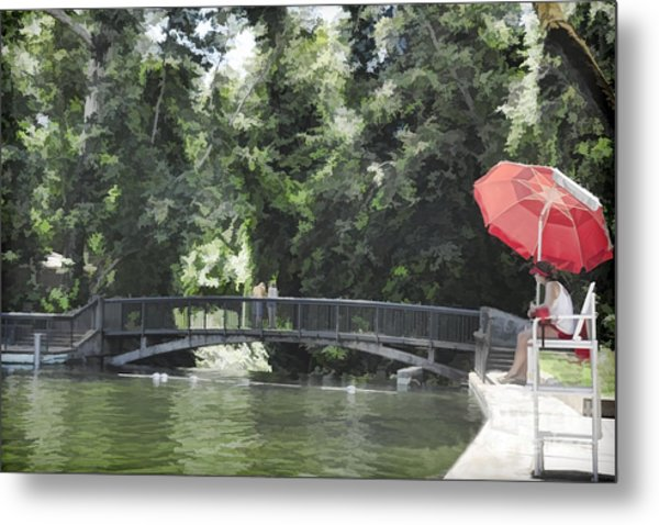 Sycamore Pool Metal Print