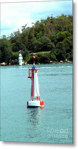 Sydney Buoy And Lighthouse Metal Print by John Potts