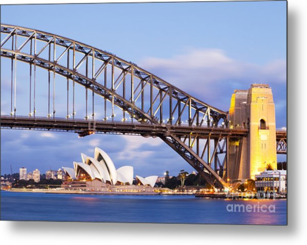 Sydney Harbour Bridge And Opera House Metal Print