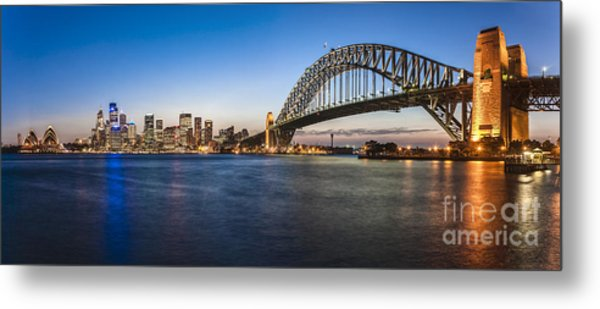Sydney Harbour Evening Panorama Metal Print