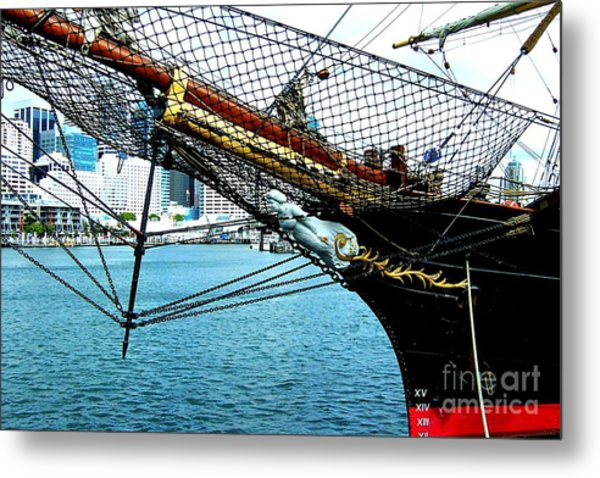 Sydney Through Bow Sprit Metal Print by John Potts