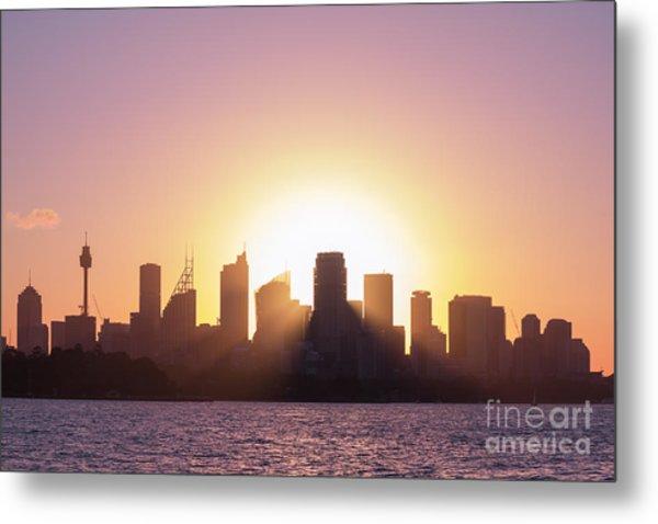 Sydney's Evening Metal Print