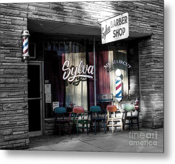 Sylva Barber Shop - 2008 Metal Print
