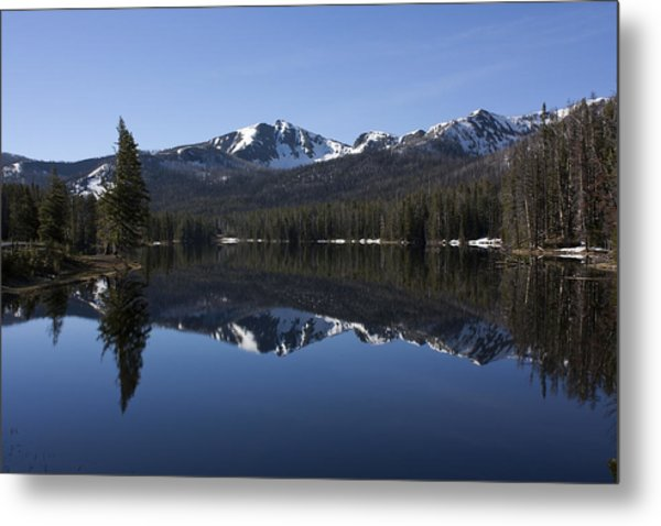 Sylvan Lake Reflection - Yellowstone Metal Print