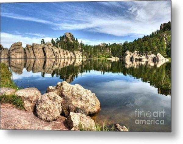 Sylvan Lake Reflections 2 Metal Print