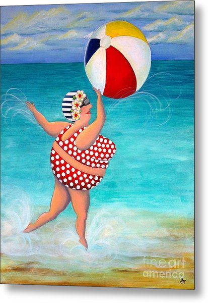 Sylvia At The Beach Metal Print