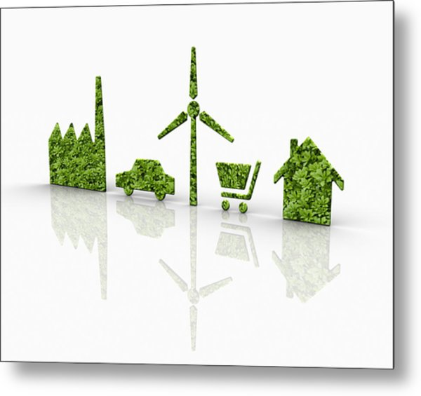 Symbols Of A Sustainable Lifestyle Metal Print by Jorg Greuel