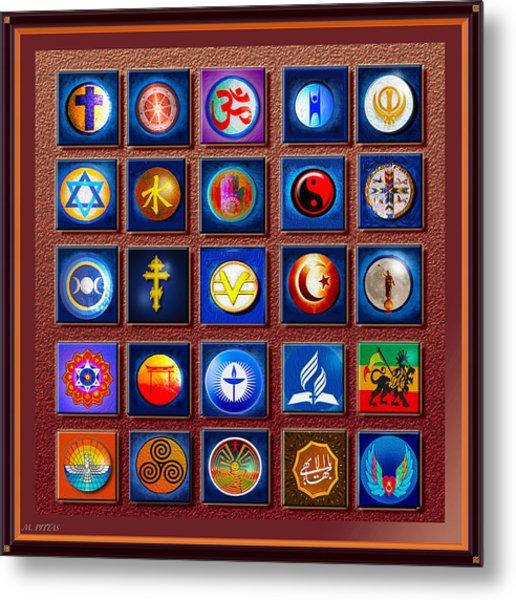 Symbols Of Diversity Metal Print