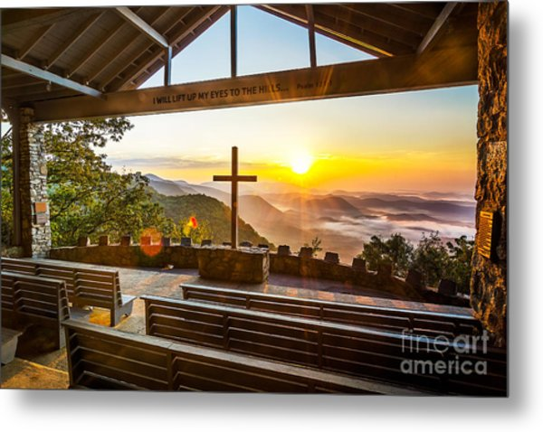 Symmes Chapel Sunrise  Metal Print
