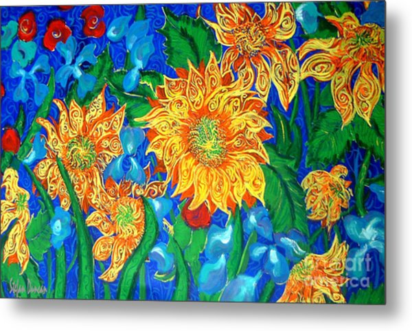 Symphony Of Sunflowers Metal Print