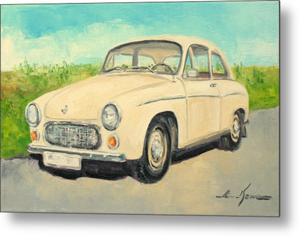 Syrena 105 - Polish Car Metal Print