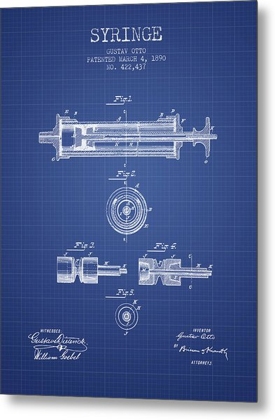 Syringe patent from 1890 blueprint digital art by aged pixel syringe patent from 1890 blueprint metal print by aged pixel malvernweather Image collections