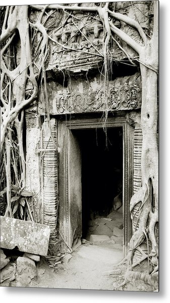 Ta Prohm Doorway Metal Print