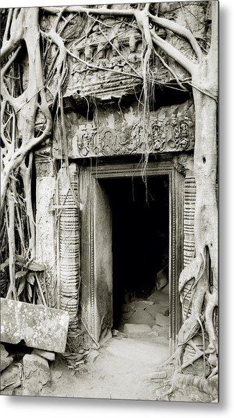 Ta Prohm Doorway Metal Print