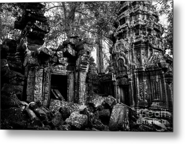Metal Print featuring the photograph Ta Prohm by Julian Cook