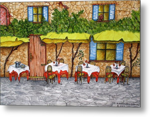 Table For Three Metal Print