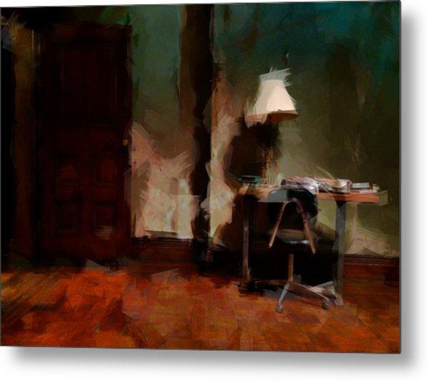 Table Lamp Chair Metal Print