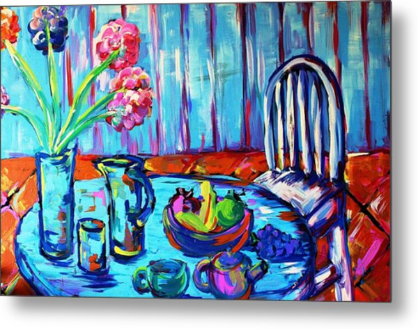 Table Setting  Metal Print