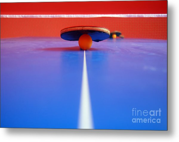 Table Tennis Metal Print