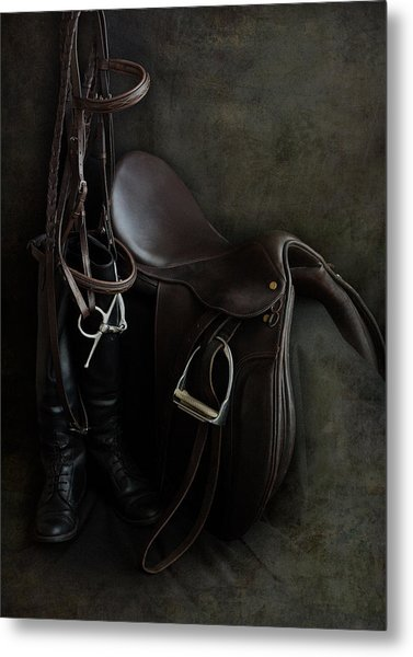 Tack And Boots Metal Print