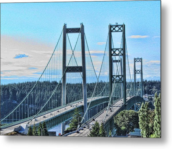 Tacoma Narrows Bridge 51 Metal Print