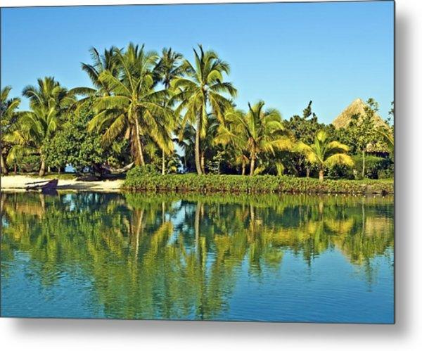 Tahitian Lagoon Metal Print