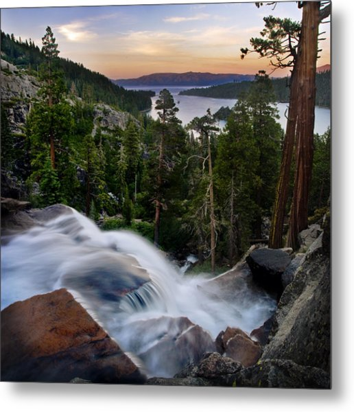 Tahoe Eagle Falls Sunrise 2 Metal Print