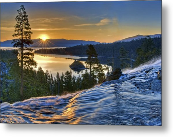 Tahoe Sunrise Metal Print