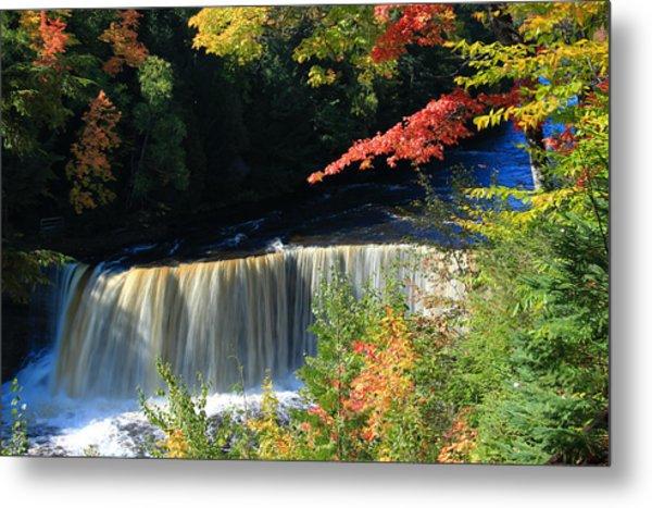 Tahquamenon Falls Autumn Metal Print
