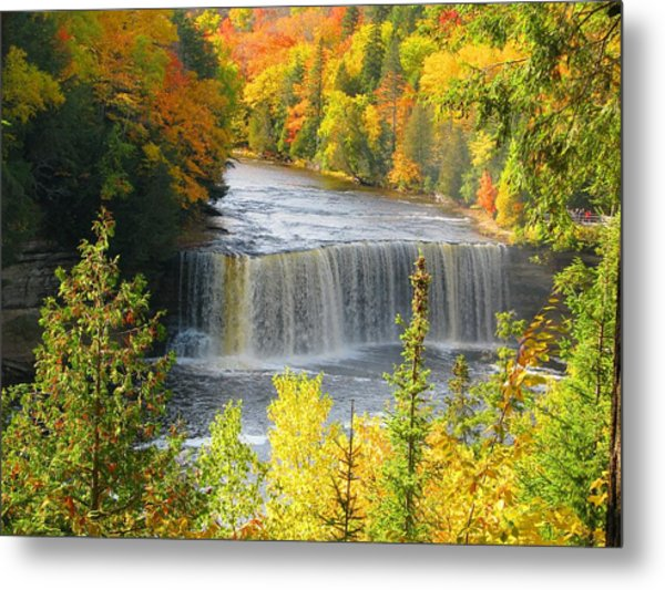 Tahquamenon Falls In October Metal Print