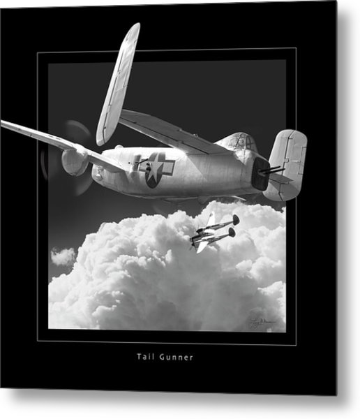 Tail Gunner Metal Print by Larry McManus