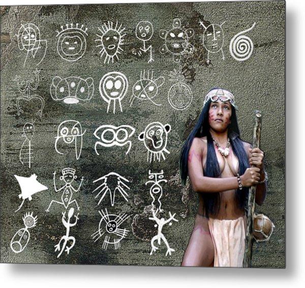 Taino Petroglyphs Metal Print
