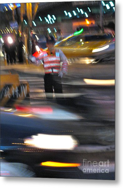 Taipei Traffic Metal Print