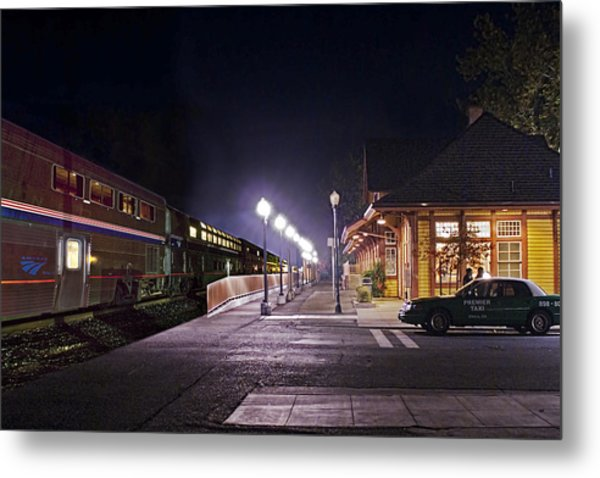 Take A Ride On Amtrak Metal Print