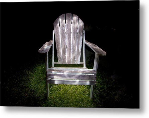 Adirondack Chair Painted With Light Metal Print