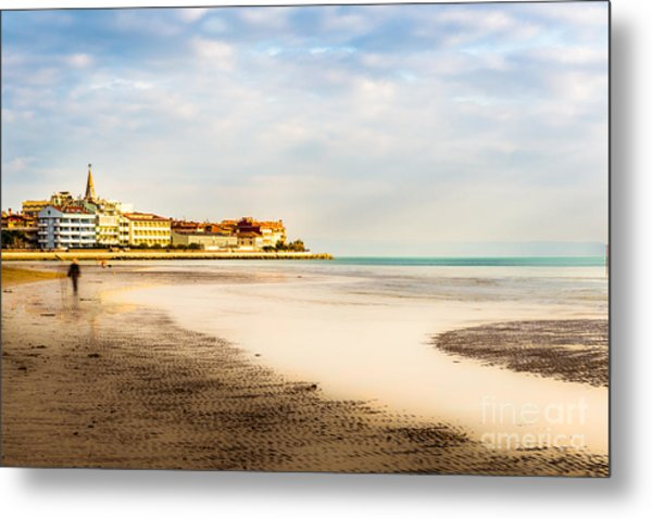 Take A Walk At The Beach Metal Print