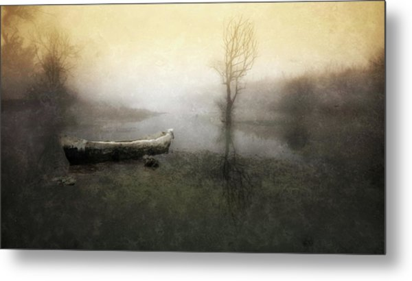 Take Me Down To My Boat In The River Metal Print by Charlaine Gerber