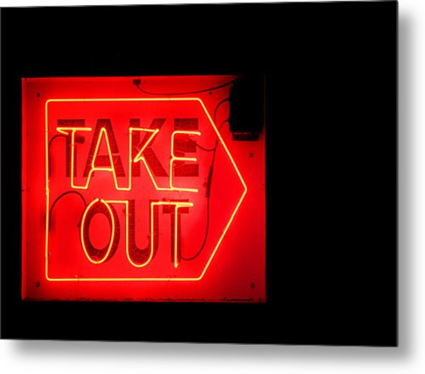 Take Out Metal Print