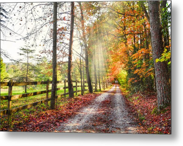 Take The Back Roads Metal Print