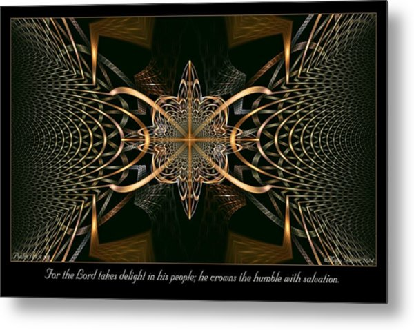 Takes Delight Metal Print