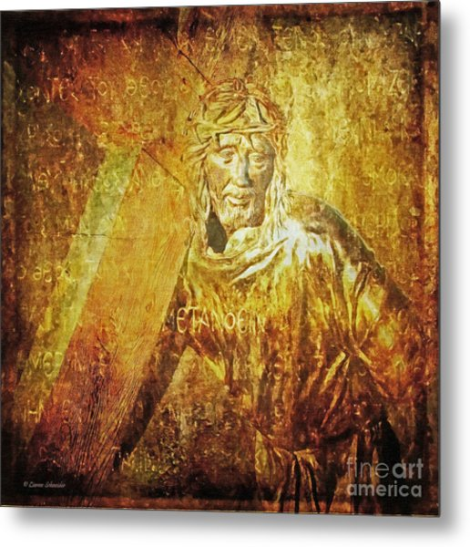 Takes Up The Cross  Via Dolorosa 2 Metal Print