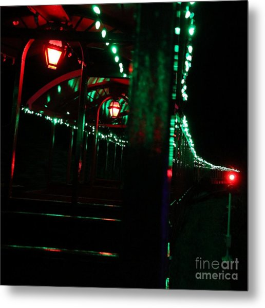 Taking In The Lights Riding The Rails Metal Print by Scott Allison