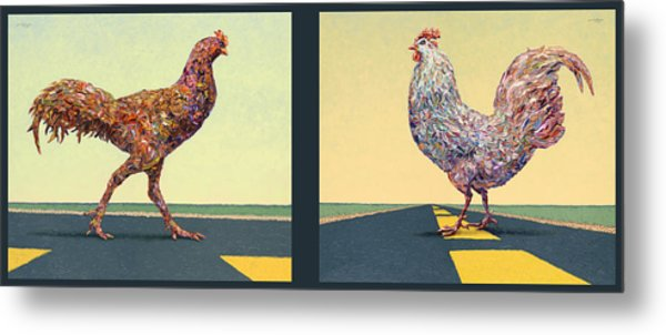 Tale Of Two Chickens Metal Print
