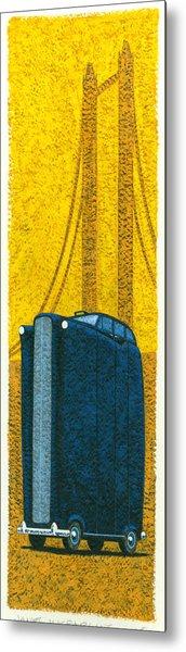 Tall London Taxi Metal Print