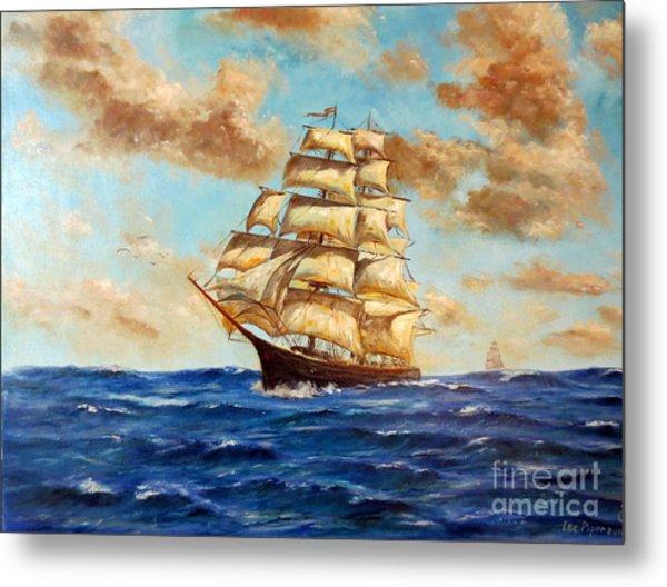 Tall Ship On The South Sea Metal Print