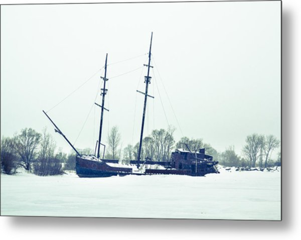 Tall Shipp At Jordan Marina Metal Print