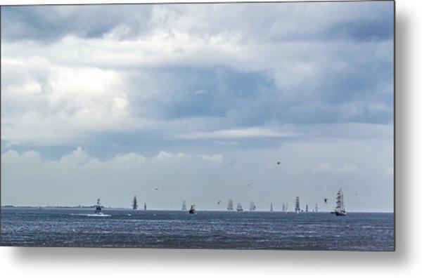 Tall Ships' Exodus Metal Print