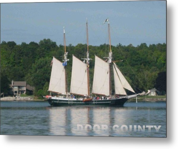 Tall Ships In The Morning Metal Print
