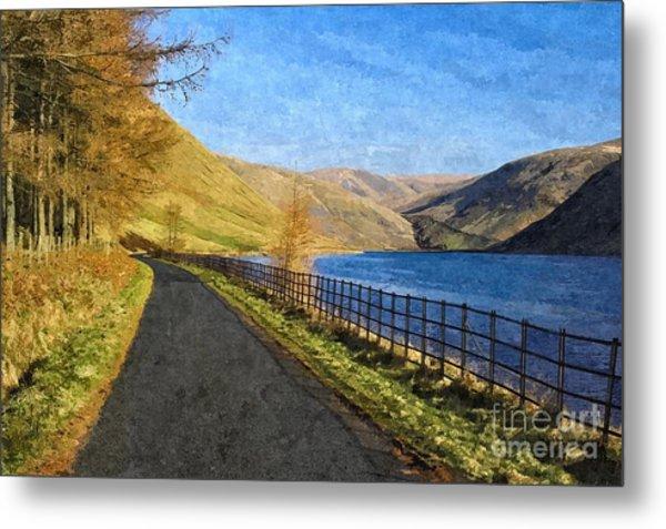 Talla Reservoir Scottish Borders Photo Art Metal Print