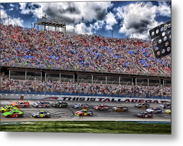 Talladega Superspeedway In Alabama Metal Print